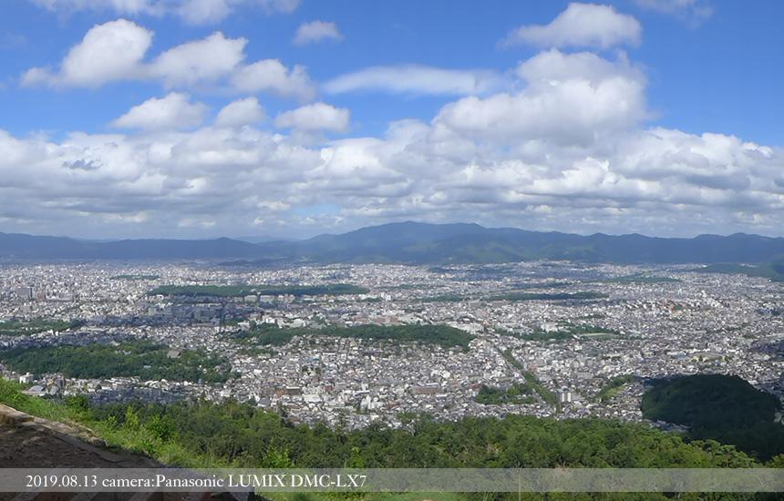 大文字山火床からの風景