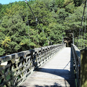 京都宇治、天ヶ瀬吊り橋