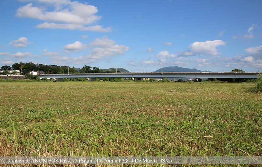 桂川東南側からみた桂大橋