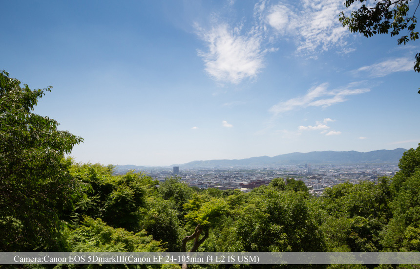 京都市内を臨む(四ツ辻あたり)